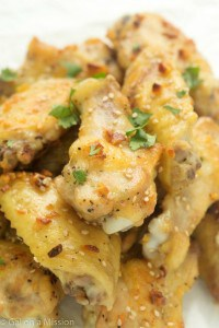 These butter and garlic chicken wings are really the best ever! Perfect game food!