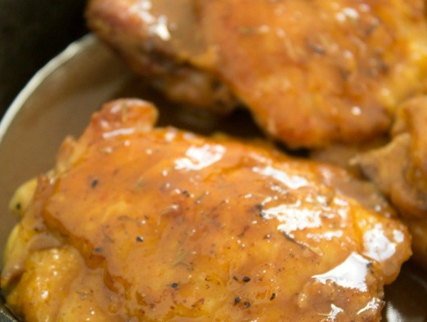 Mouthwatering Maple-Mustard Chicken Thighs Recipe via @galmission