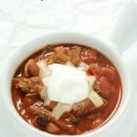 A mouthwatering shredded beef chili recipe that is so easy to make and absolutely delicious! Perfect for the cooler weather, so comforting!
