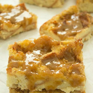 Bread Pudding with Bourbon Butter Glaze