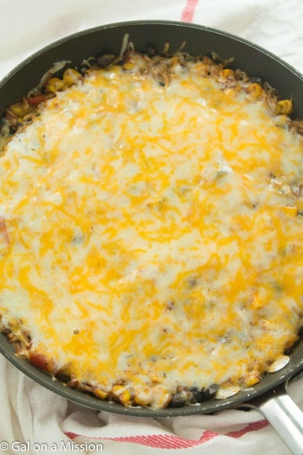 Cheesy Enchilada Rice Skillet Casserole-3