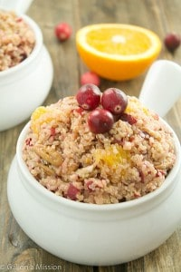 A refreshing and delicious cranberry orange quinoa salad. Perfect for any Fall occasion!