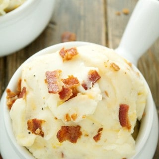 Slow Cooker Loaded Mashed Potatoes