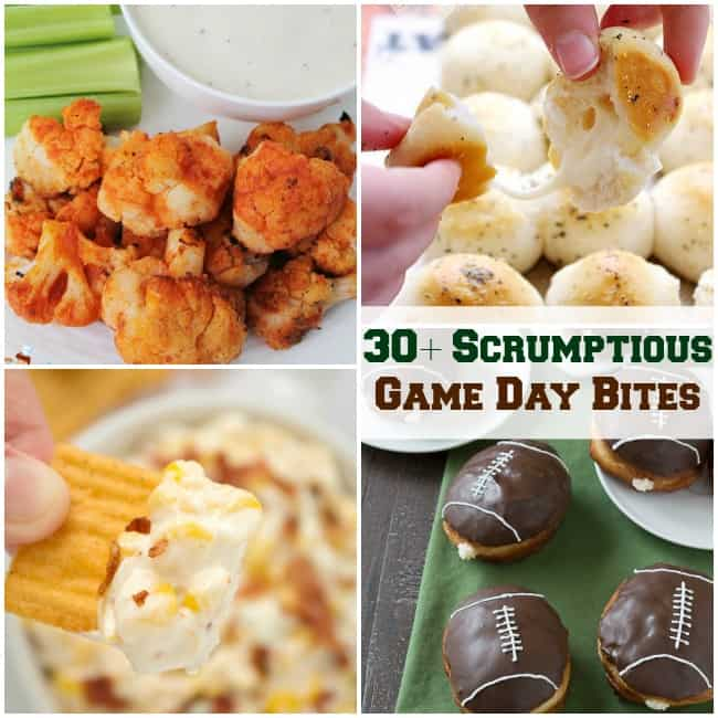 30+ Scrumptious Game Day Bites-fb