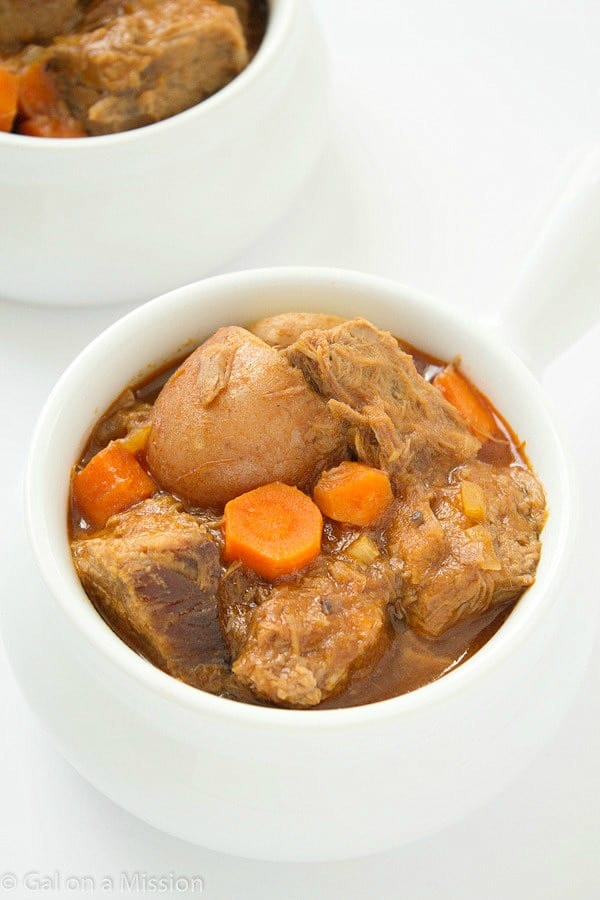 An out-of-this-world delicious and comforting barbecue beef stew recipe! A winter staple in our family.