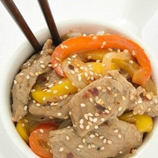 Spicy Sesame Beef Stir Fry
