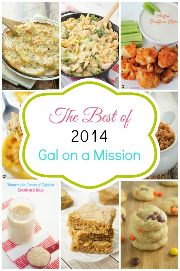 This year of 2014 on Gal on a Mission was a delicious year bringing in a loaded potato casserole, a yummy chicken and broccoli casserole, buffalo cauliflower bites, and more!