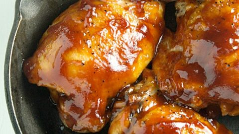 The juiciest and most flavorful baked bbq chicken thighs recipe!