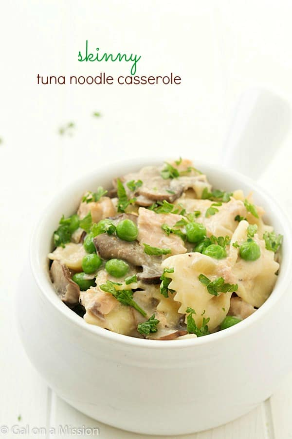 Skinny Tuna Noodle Casserole: Flavorful tuna packed with delicious ...