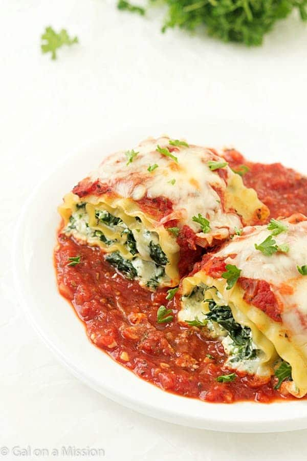 Spinach Lasagna Roll-Up Recipe: An incredible easy weeknight or ...