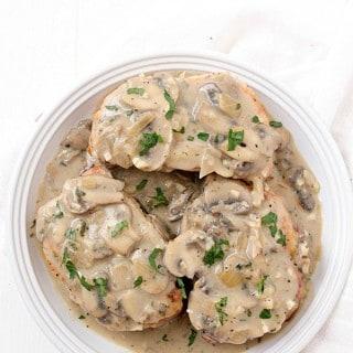 Pork Chops with Creamy Mushroom Sauce