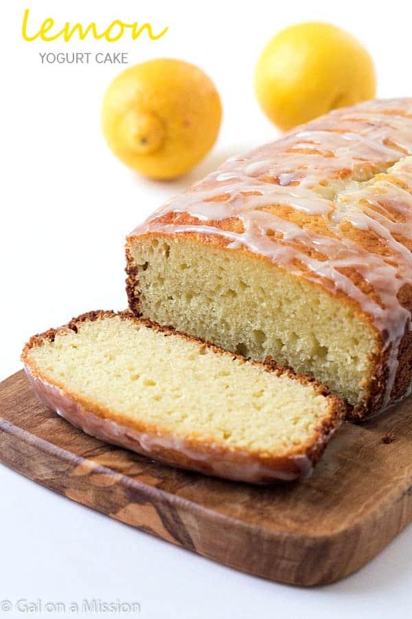 Lemon Yogurt Cake Recipe - Incredibly moist and tender. One bite and ...