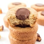 Peanut Butter Cup Cookies Recipe - Incredibly moist and easy to make cookies! Move on over peanut butter cookies and have a cookie cup instead!