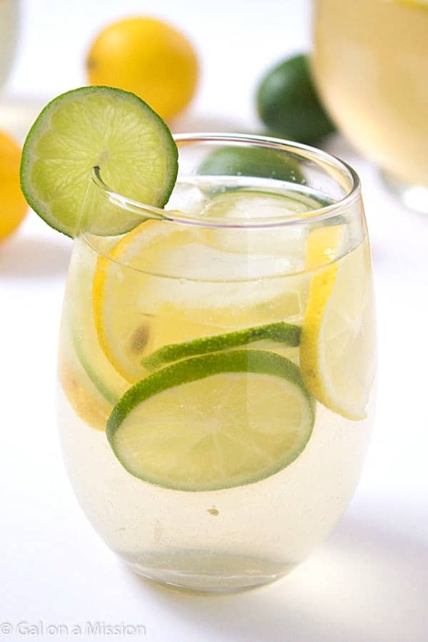 Lemon-Lime Sangria White Wine: A refreshing and unique spin on sangria! Not too sweet and absolutely delicious! If you are a fan of lemon-lime water, then this is for you!