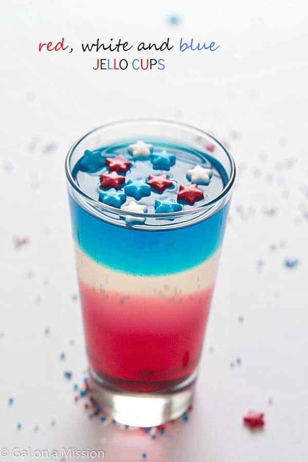 Red, White and Blue Jello Cups - Gal on a Mission