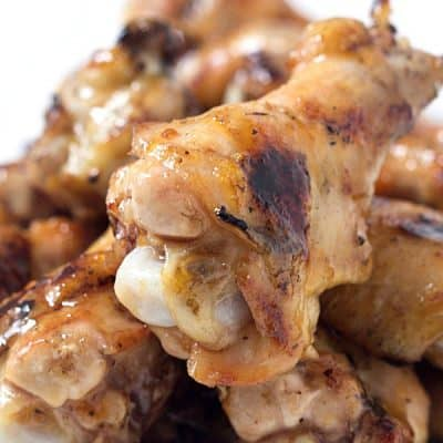 Apricot Glazed Grilled Chicken Wings