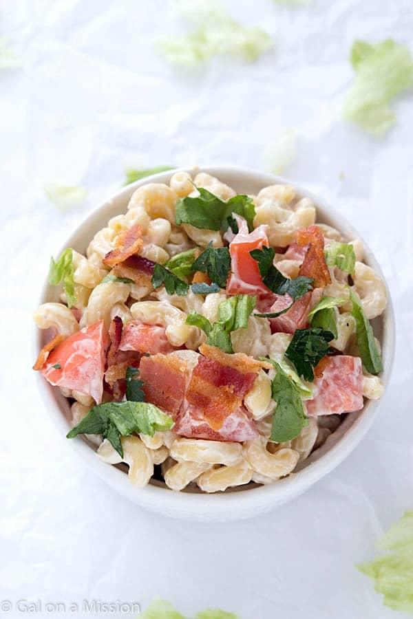 BLT Macaroni Salad - A twist on your traditional summer macaroni salad ...