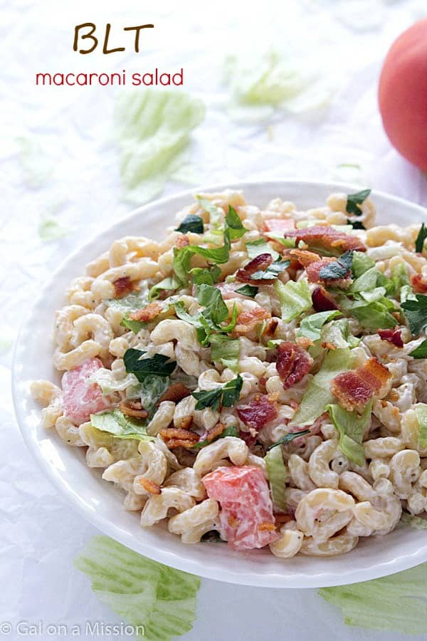 BLT Macaroni Salad - A twist on your traditional summer macaroni salad ...