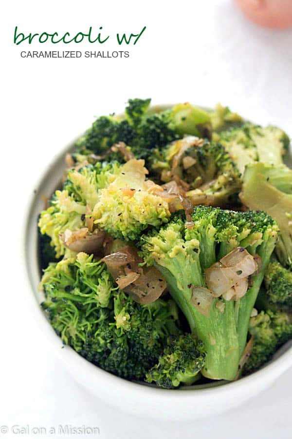 Broccoli with Caramelized Shallots - The perfect star to any main dish! A dish the entire family will devour!