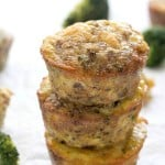 Sausage Broccoli Egg Muffins - A delicious way to start the day off! Loaded with ground sausage and broccoli!