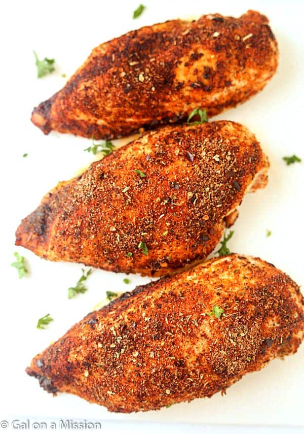Baked Cajun Chicken Breasts - Gal on a Mission