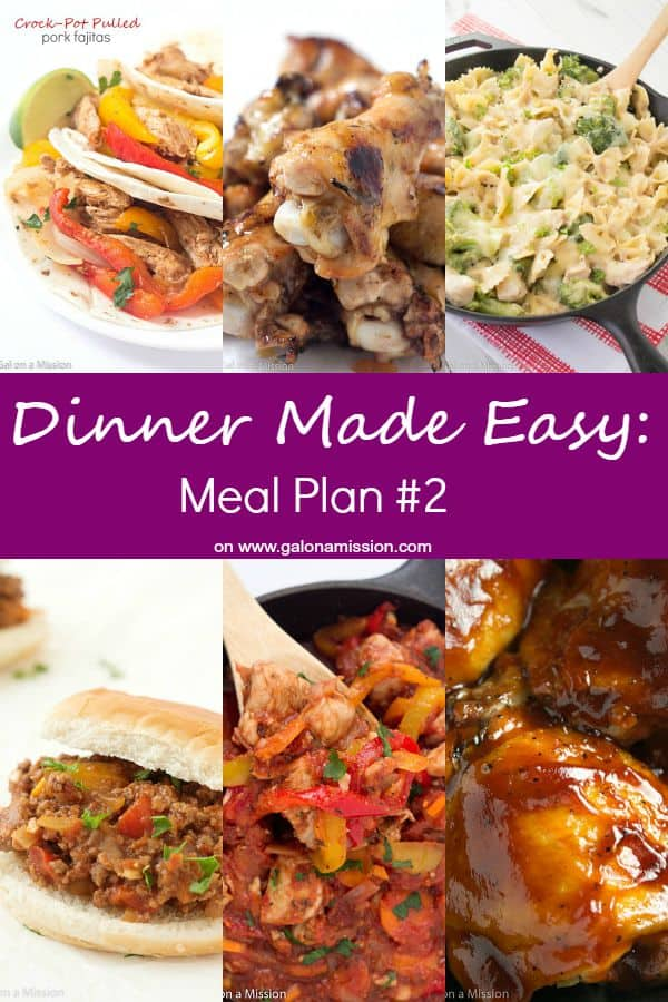 Dinner made easy meal plan 2 gal on a mission dinner made easy meal plan 2 standing in the kitchen scratching your forumfinder Image collections