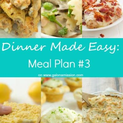 Dinner Made Easy: Meal Plan #3