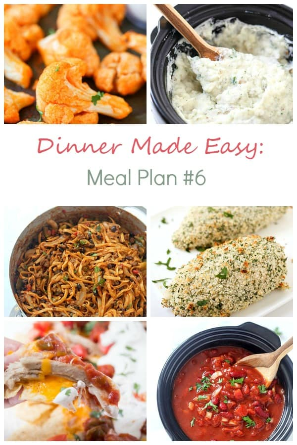 Dinner made easy meal plan 6 gal on a mission for What can i make for dinner tonight