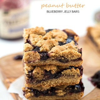 Peanut Butter and Blueberry Jelly Bars