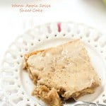 Warm Apple Spice Sheet Cake with Sweet Caramel Glaze - Each bite contains the perfect amount of shredded apples with a hint of nutmeg and cloves! Best when served warm.