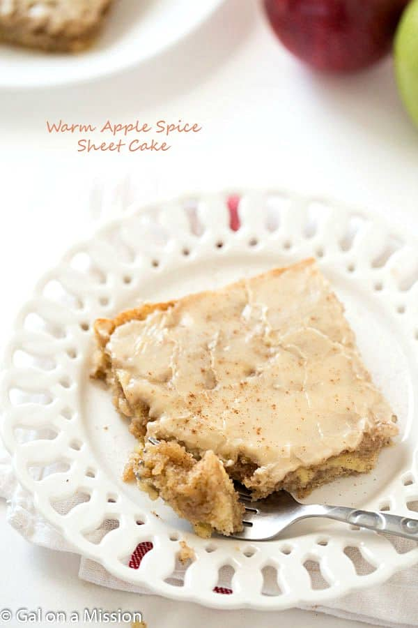 Apple Spice Sheet Cake