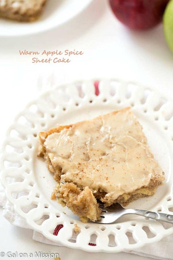 Apple Spice Cake Caramel Glaze