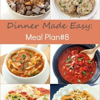 Dinner Made Easy: Meal Plan #8