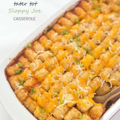 Tater Tot Sloppy Joe Casserole Recipe - A family favorite made into a casserole everyone will enjoy, even the pickiest eaters! Casserole dinners are always a delicious option to feed the entire family. Add to your favorite casserole recipes to mix up your dinner rotation!