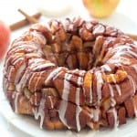 Cinnamon Apple Harvest Monkey Bread - So delicious and easy, made with a secret ingredient, that makes it so much easier! It's finger-licking addicting! Can be made with only 5 ingredients!