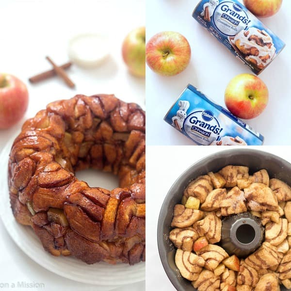 Cinnamon Apple Harvest Monkey Bread Steps