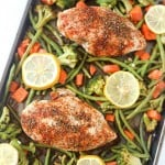 One-Pan Baked Lemon Chicken w/ Vegetables