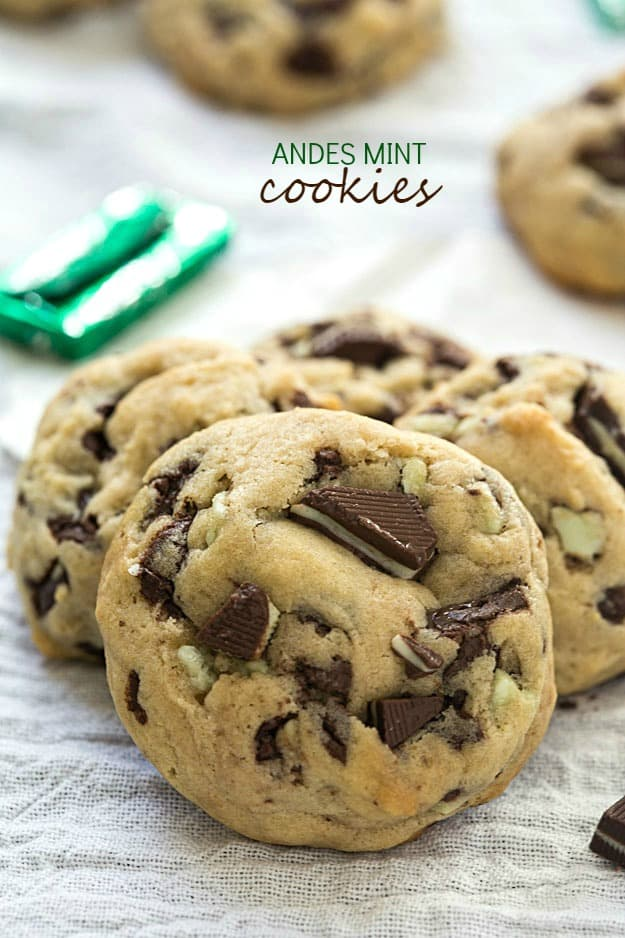 Chocolate Chip Cookies With Andes Mints