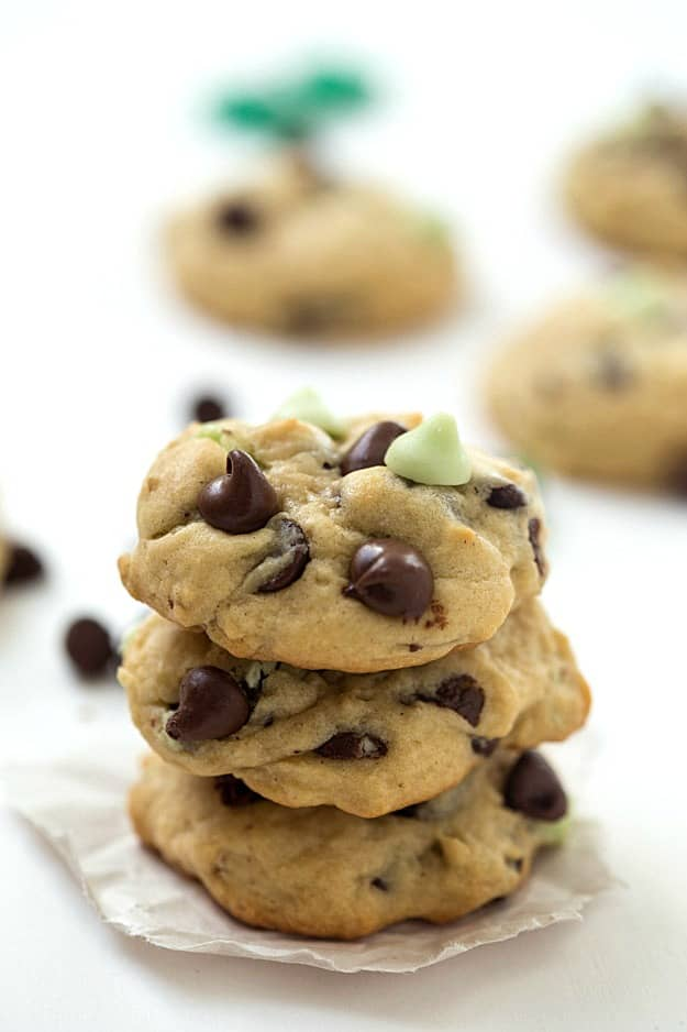 Mint Chocolate Chip Cookies - Bursting with flavor from the mint ...