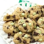 Mint Chocolate Chip Cookies - Bursting with flavor from the mint chocolate chips. Soft and chewy! VERY easy to make and the BEST cookies! Add these to your cookie baking list for Christmas or anytime of the year!