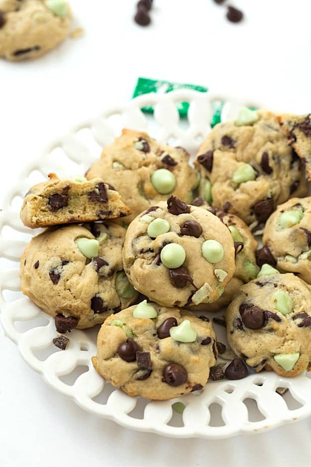 Mint Chocolate Chip Cookies - Gal on a Mission