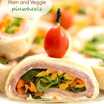 Mini Ham and Veggie Pinwheels
