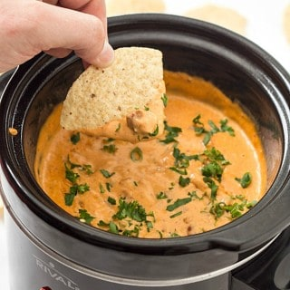 5-Ingredient Slow Cooker Chili Cheese Dip