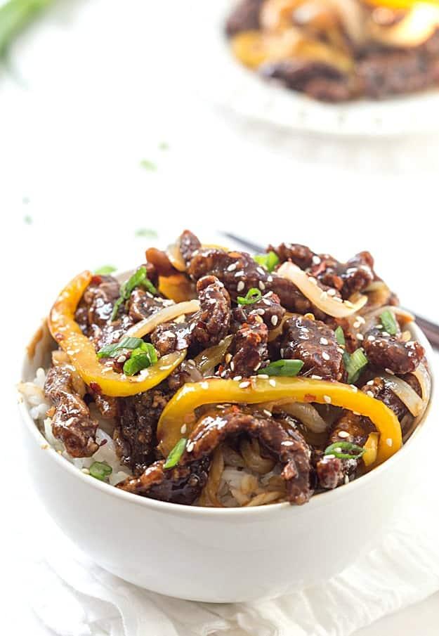 Crispy Spicy Sesame Beef Recipe - Tender and crispy beef stir-fry made ...