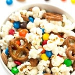 Salty and Sweet Popcorn Snack Mix - Crunchy, salty, sweet, and very addicting! Perfect for a DIY snack mix bar! Very versatile and you can add any toppings you would like.