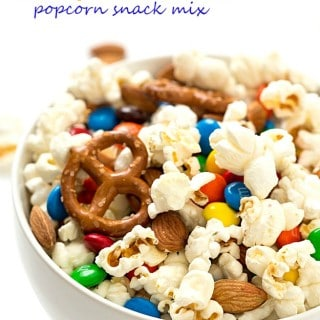 Salty and Sweet Popcorn Snack Mix