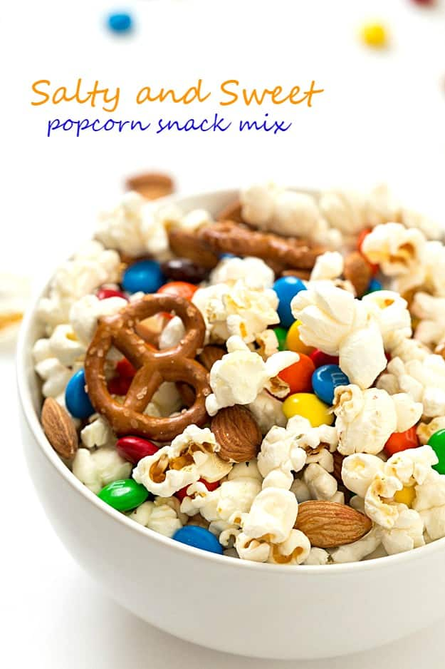 Salty And Sweet Popcorn Snack Mix   Crunchy, Salty, Sweet, And Very  Addicting