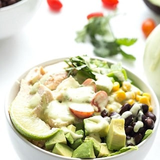 Southwest Chopped Salad with Avocado Cilantro Vinaigrette