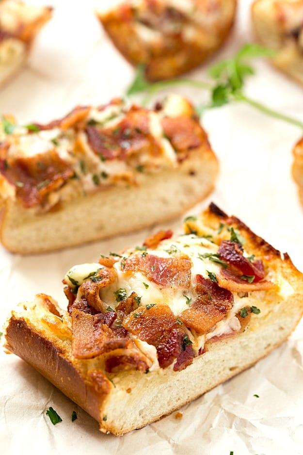 Cheesy Bacon Ranch Garlic Bread | Extremely Tasty Garlic Bread Recipes | Homemade Recipes