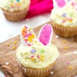 Incredibly Easy Easter Cupcakes - Take boxed cake mix to the next level! So light and fluffy with the perfect decorations for Easter!